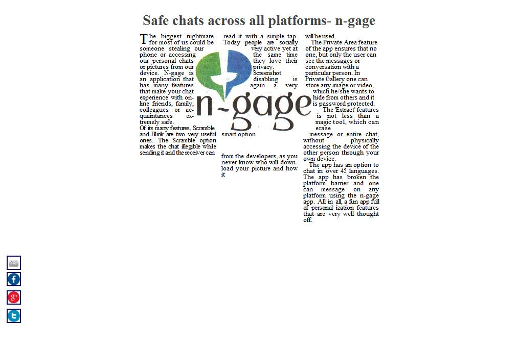 n-gage messenger safe chats