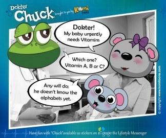 Dokter Chuck KomiToons - n-gage chat messenger