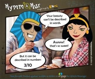 Hymm & Hur KomiToons - n-gage chat messenger